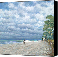 Storm Painting Canvas Prints - Storm on the Horizon Canvas Print by Danielle Perry
