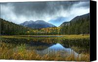 Storm Digital Art Canvas Prints - Storm Over Cub Lake Canvas Print by Pete Hellmann