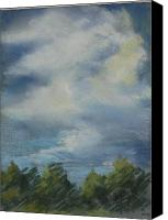 Storm Clouds Pastels Canvas Prints - Storm Passage  Canvas Print by Marlene Kingman