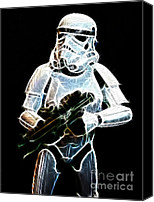 Empire Photo Canvas Prints - Storm Trooper Canvas Print by Paul Ward