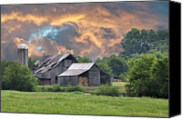 Country Scenes Canvas Prints - Storms Coming I Canvas Print by Jan Amiss Photography