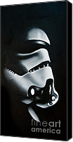 Wars Canvas Prints - Stormtrooper Canvas Print by Clifton Llamas