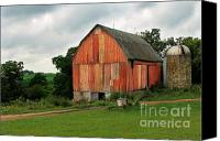 Potography Canvas Prints - Stormy Barn 2 Canvas Print by Perry Webster