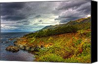 Stormy Photo Canvas Prints - Stormy Coast Canvas Print by Matt  Trimble