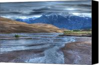 Sangre De Cristo Mountains Canvas Prints - Stormy Dunes Canvas Print by Tracy Thomas