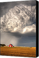 Prairie Canvas Prints - Stormy Homestead Canvas Print by Thomas Zimmerman
