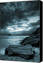 Rocks Canvas Prints - Stormy Ocean Canvas Print by Jaroslaw Grudzinski