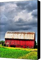 Country Scenes Photo Canvas Prints - Stormy Red Canvas Print by Emily Stauring