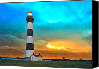 Tropical Storm Canvas Prints - Stormy Sunrise WC Canvas Print by Dan Carmichael