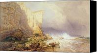Storm Painting Canvas Prints - Stormy Weather Canvas Print by John Mogford