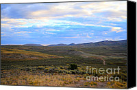 Prairie Photography Canvas Prints - Stormy Wyoming Sunrise I Canvas Print by Donna Van Vlack