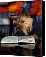 Dog Photo Canvas Prints - Story Book Terrier Canvas Print by Susan Stone