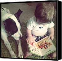 Bestfriends Canvas Prints - Story Time Canvas Print by Michelle Ridd