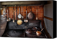 Pans Canvas Prints - Stove - The gourmet chef  Canvas Print by Mike Savad