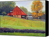 State Park Painting Canvas Prints - Stover Mill- Plein Air Canvas Print by Kit Dalton