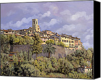 May Canvas Prints - St.Paul de Vence Canvas Print by Guido Borelli