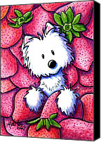 Childs Canvas Prints - Strawberries N Cream Canvas Print by Kim Niles