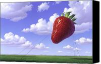 Strawberry Canvas Prints - Strawberry Field Canvas Print by Jerry LoFaro
