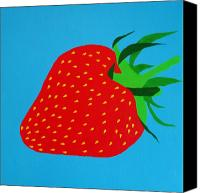 Stretched Canvas Prints - Strawberry Pop Canvas Print by Oliver Johnston
