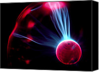 Plasma Photo Canvas Prints - Streams Of Light Inside A Plasma Globe Canvas Print by G. Brad Lewis