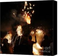 Pyrotechnics Canvas Prints - Street fire Canvas Print by Agusti Pardo Rossello