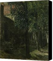 Scheel; Signe (1860-1940) Canvas Prints - Street in Lubeck - Germany Canvas Print by Signe Scheel