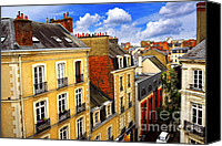 House Canvas Prints - Street in Rennes Canvas Print by Elena Elisseeva
