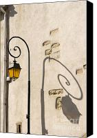 Background Pyrography Canvas Prints - Street Lamp And Shadow Canvas Print by Igor Kislev