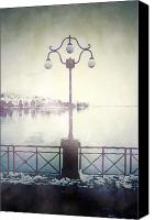 Ghostly Canvas Prints - Street Lamp Canvas Print by Joana Kruse