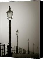 Cobbles Canvas Prints - Street Lamps Canvas Print by David Bowman