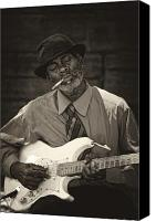 Performer Canvas Prints - Street Musician 5th Avenue NYC Canvas Print by Robert Ullmann
