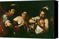 Traveller Canvas Prints - Street Musicians Canvas Print by Bernardo Strozzi
