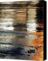 Akermans Art Canvas Prints - Street Reflections 2 Canvas Print by Beth Akerman