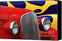 Custom Grill Canvas Prints - Street Rods - D001174 Canvas Print by Daniel Dempster