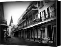 Spanish Style Canvas Prints - Street to Jackson Square Canvas Print by Perry Webster