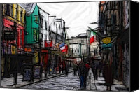 People Pastels Canvas Prints - Streetlife Canvas Print by Stefan Kuhn