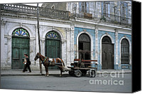 Cienfuegos Canvas Prints - Streets of Cienfuegos Canvas Print by James Brunker