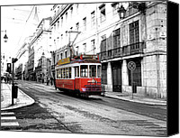 City Streets Photo Canvas Prints - Streets of Lisbon Canvas Print by Alex Hardie