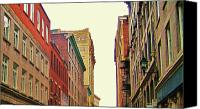City Streets Photo Canvas Prints - Streets of Montreal Canvas Print by Reb Frost