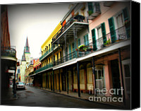 Spanish Style Canvas Prints - Streets of New Orleans Canvas Print by Perry Webster