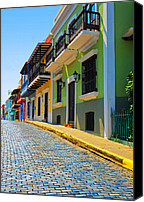 Old San Juan Canvas Prints - Streets of Old San Juan Canvas Print by Stephen Anderson
