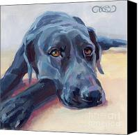 Labrador Retriever Canvas Prints - Stretched Canvas Print by Kimberly Santini