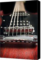 Gibson Guitar Canvas Prints - Strings Canvas Print by Lisha Segur