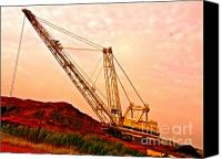 Manor Canvas Prints - Strip Mining Near Manor Texas Canvas Print by Chuck Taylor