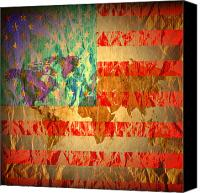 Drugs Greeting Cards Prints Canvas Prints - Stripes And Stars  Canvas Print by Jerry Cordeiro