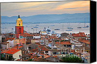 Cruise Photo Canvas Prints - St.Tropez at sunset Canvas Print by Elena Elisseeva
