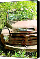 Old Things Canvas Prints - Studebaker Truck Canvas Print by Pauline Ross