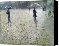 Raining Canvas Prints - Study for a Paris Street Rainy Day Canvas Print by Gustave Caillebotte