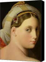 Nudes Canvas Prints - Study for an Odalisque Canvas Print by Ingres