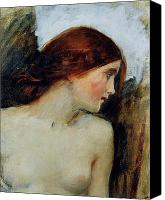 Nudes Canvas Prints - Study for the Head of Echo Canvas Print by John William Waterhouse